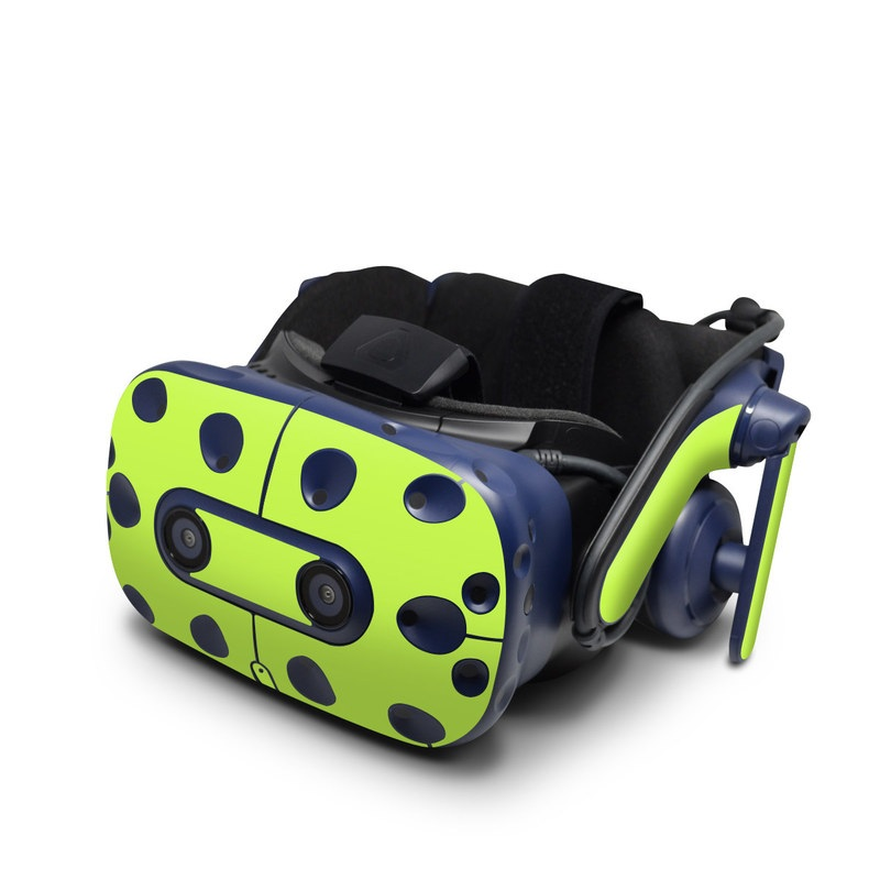 HTC VIVE Pro Skin design of Green, Yellow, Text, Leaf, Font, Grass with green colors