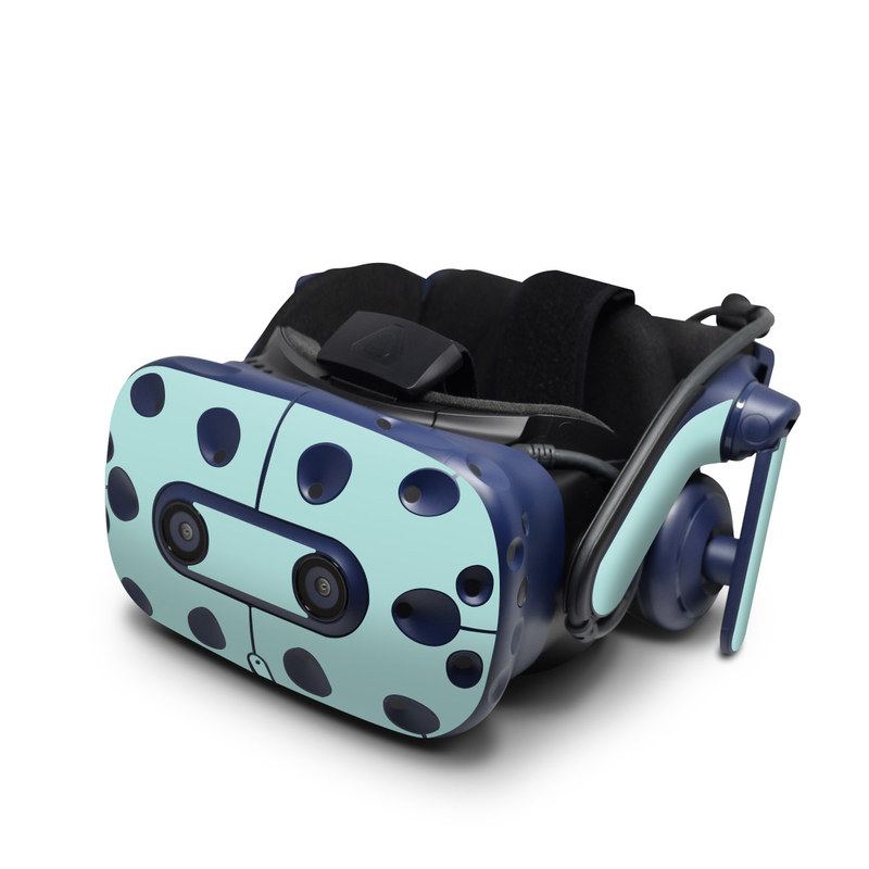 HTC VIVE Pro Skin design of Green, Blue, Aqua, Turquoise, Teal, Azure, Text, Daytime, Yellow, Sky with blue colors
