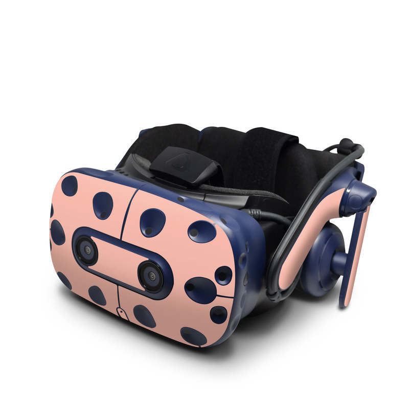 HTC VIVE Pro Skin design of Orange, Pink, Peach, Brown, Red, Yellow, Material property, Font, Beige with pink colors