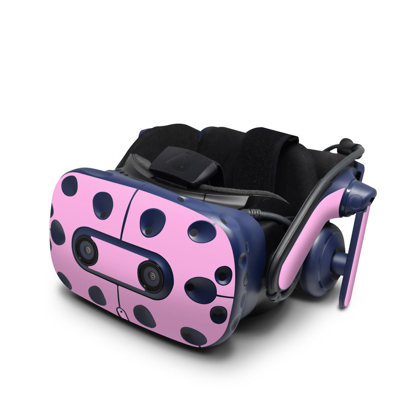 HTC VIVE Pro Skin design of Pink, Violet, Purple, Red, Magenta, Lilac, Sky, Material property, Peach with pink colors