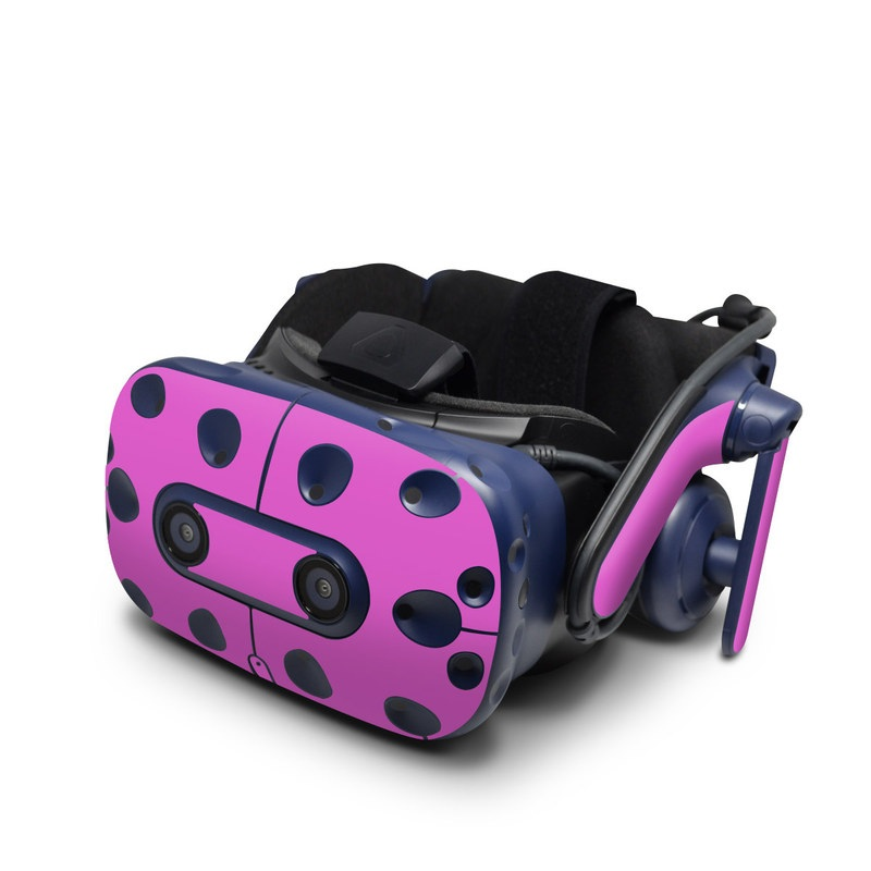 HTC VIVE Pro Skin design of Violet, Pink, Purple, Red, Lilac, Magenta, Blue, Lavender, Text, Sky with pink colors