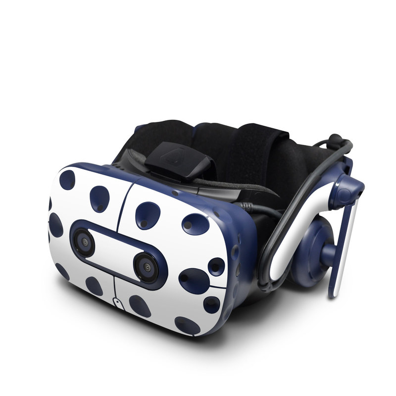 HTC VIVE Pro Skin design of White, Black, Line with white colors