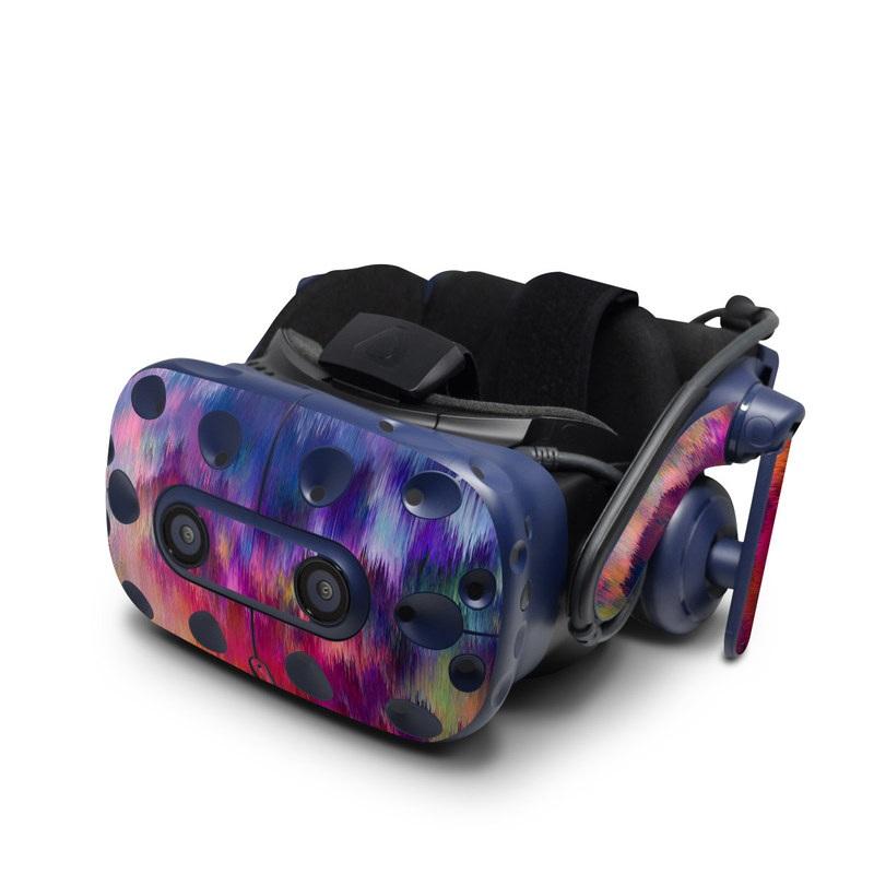 HTC VIVE Pro Skin design of Sky, Purple, Pink, Blue, Violet, Painting, Watercolor paint, Lavender, Cloud, Art with red, blue, purple, orange, green colors