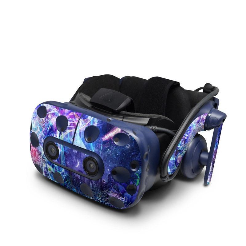 HTC VIVE Pro Skin design of Blue, Purple, Violet, Lavender, Majorelle blue, Psychedelic art, Electric blue, Organism, Art, Design with blue, green, purple, red, pink colors