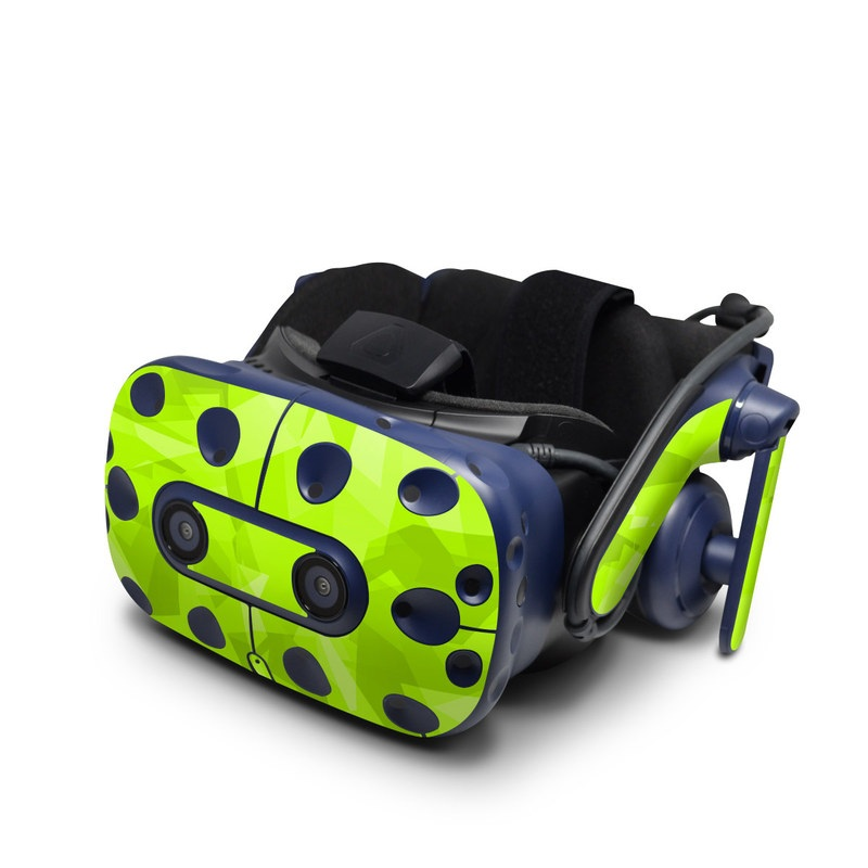 HTC VIVE Pro Skin design with green colors