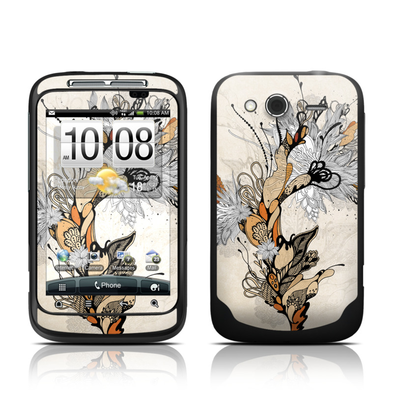 Sweet Floral HTC Wildfire S Skin