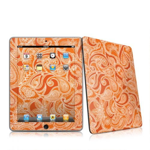 Paisley In Orange iPad 1st Gen Skin