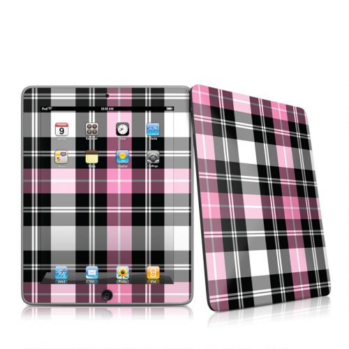 Pink Plaid iPad 1st Gen Skin