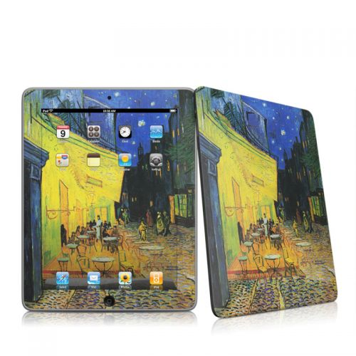 Cafe Terrace At Night iPad 1st Gen Skin