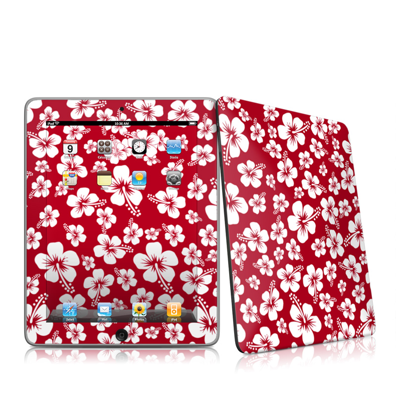 Aloha Red Apple iPad 1st Gen Skin