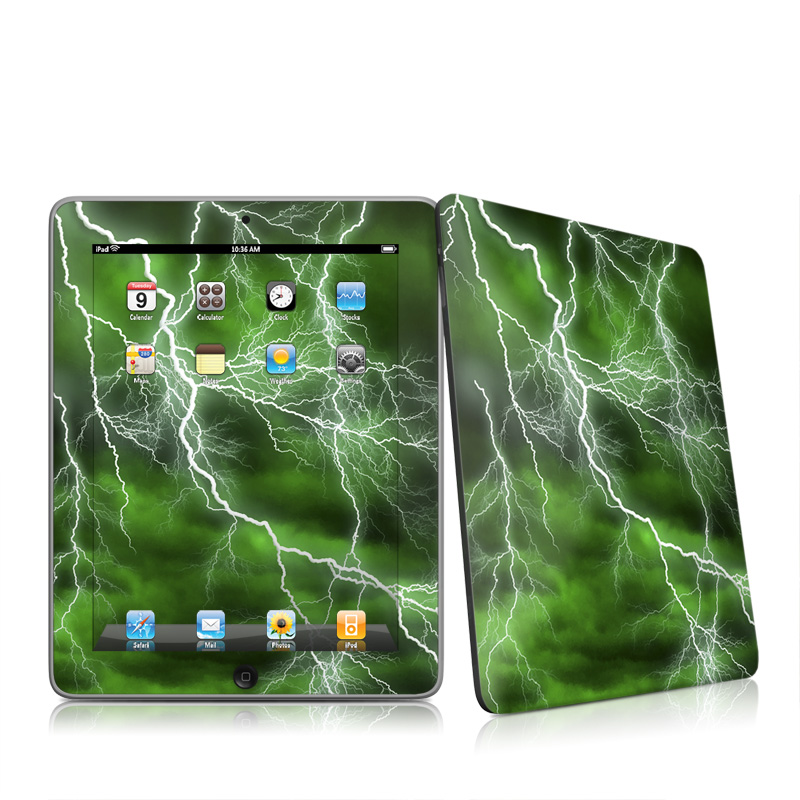 Apocalypse Green Apple iPad 1st Gen Skin