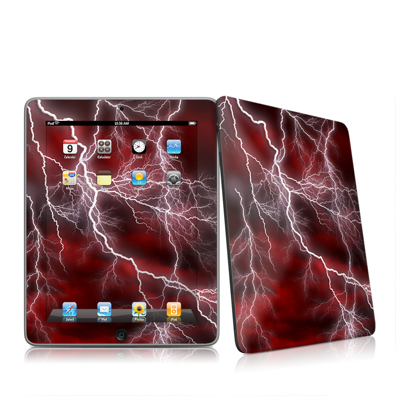 Apocalypse Red Apple iPad 1st Gen Skin