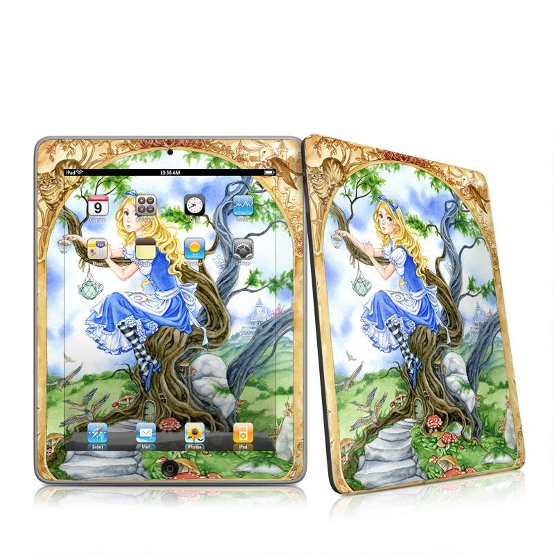 Alice's Tea Time iPad 1st Gen Skin