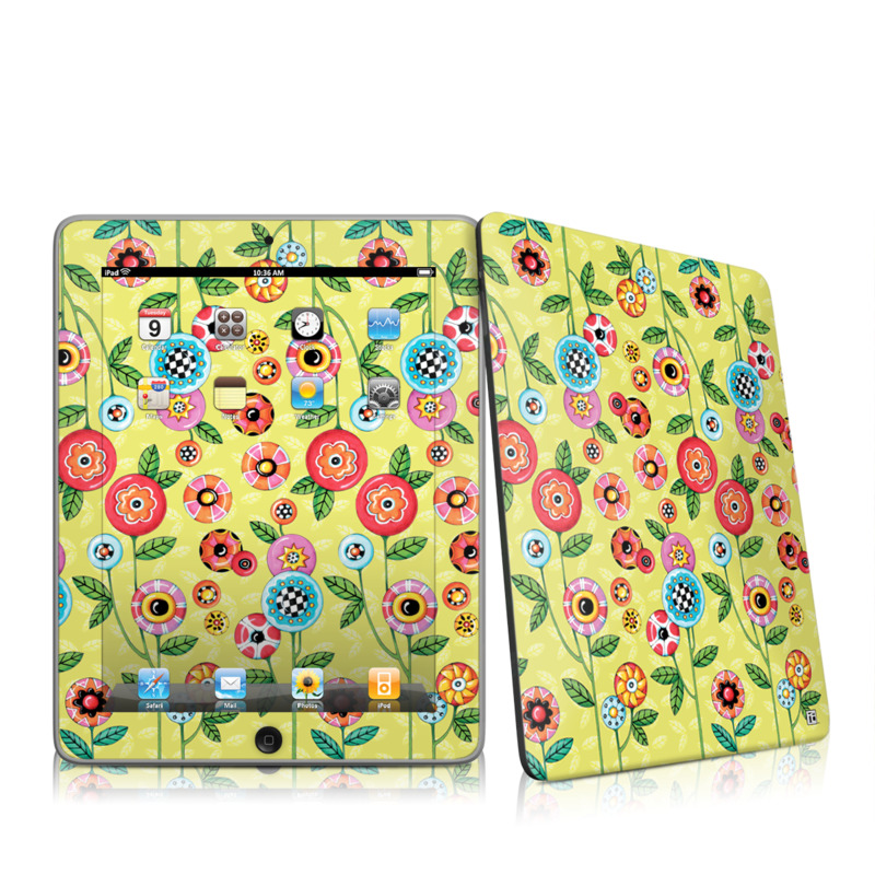 Button Flowers iPad 1st Gen Skin