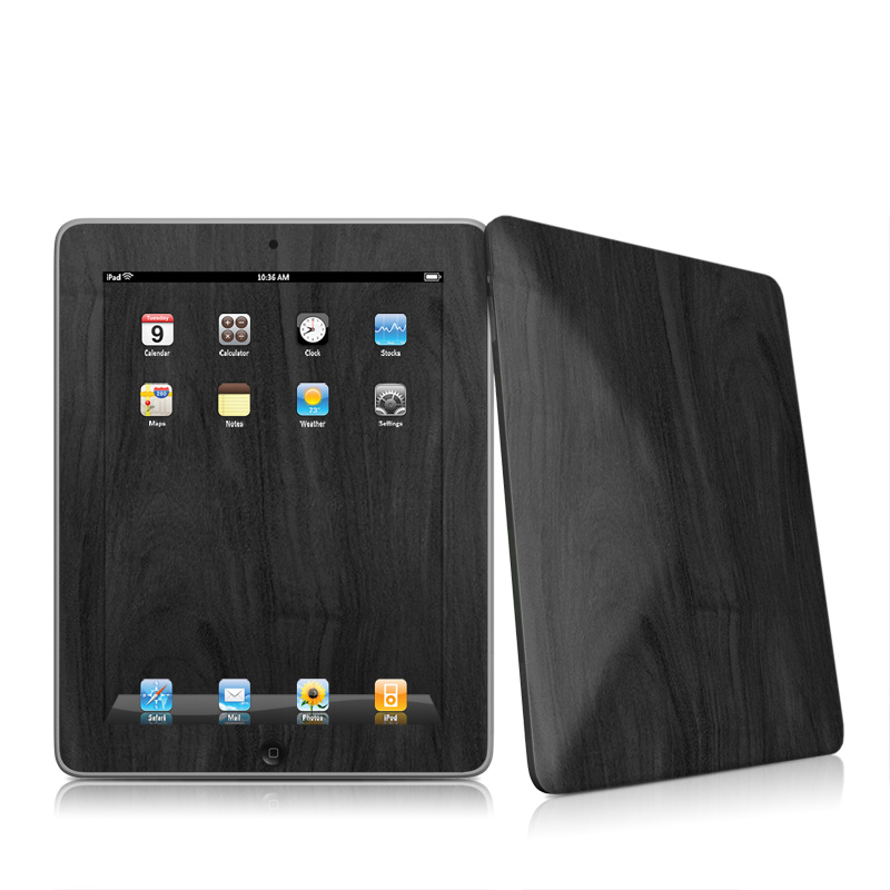 Black Woodgrain iPad 1st Gen Skin