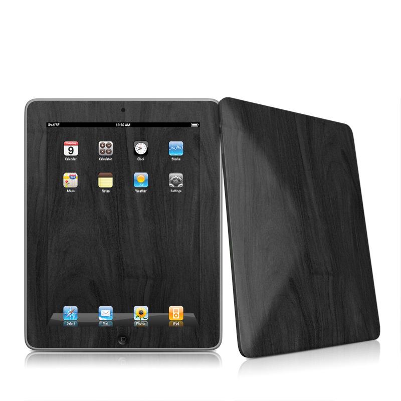 iPad 1st Gen Skin design of Black, Brown, Wood, Grey, Flooring, Floor, Laminate flooring, Wood flooring with black colors