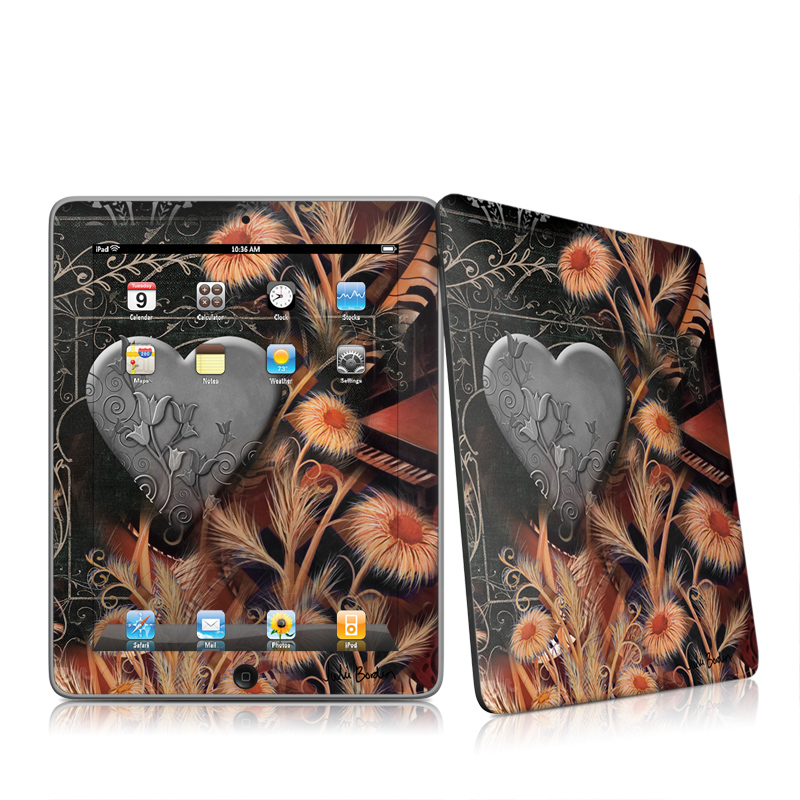 Black Lace Flower Apple iPad 1st Gen Skin