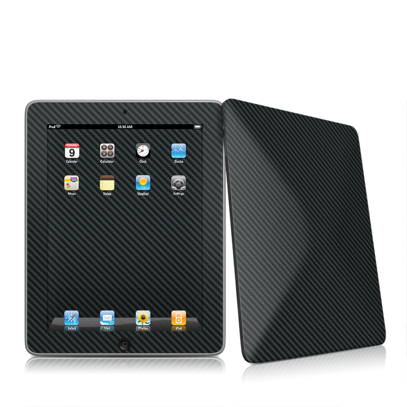 Carbon Apple iPad 1st Gen Skin
