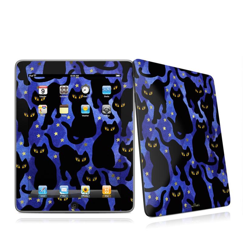 Cat Silhouettes iPad 1st Gen Skin