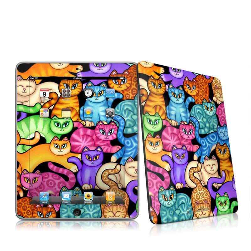 Colorful Kittens iPad 1st Gen Skin