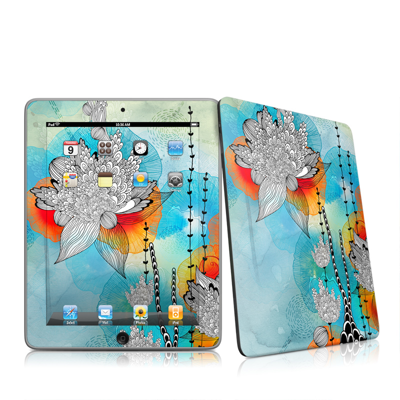 Coral Apple iPad 1st Gen Skin