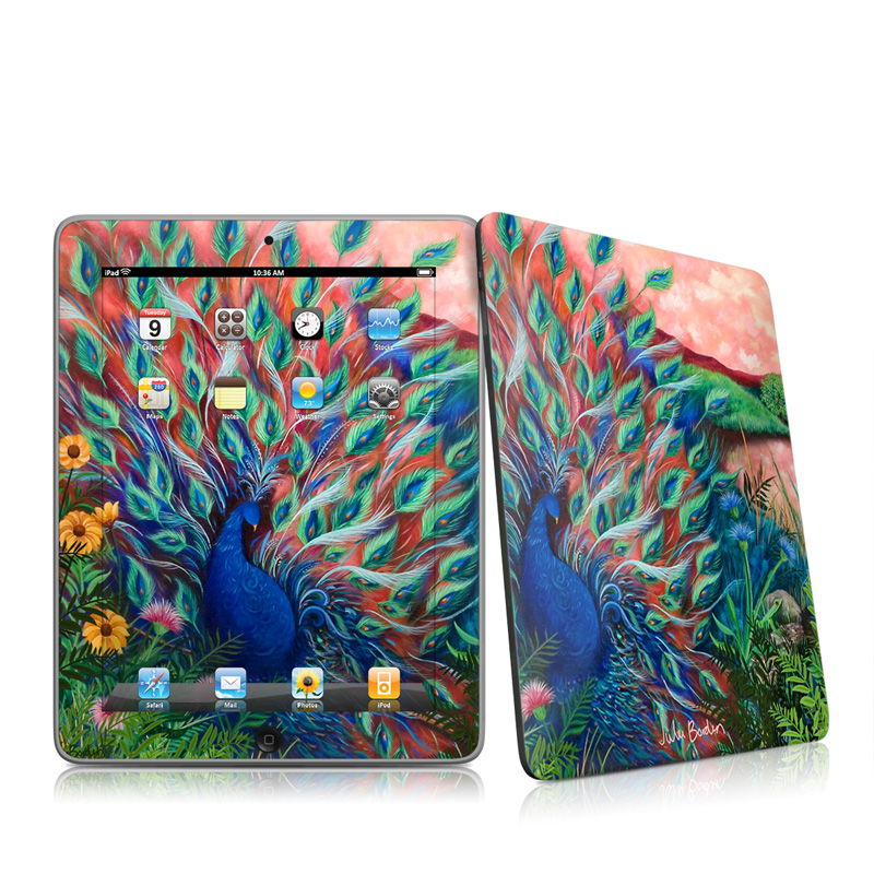 Coral Peacock Apple iPad 1st Gen Skin