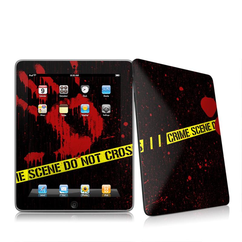 Crime Scene Apple iPad 1st Gen Skin