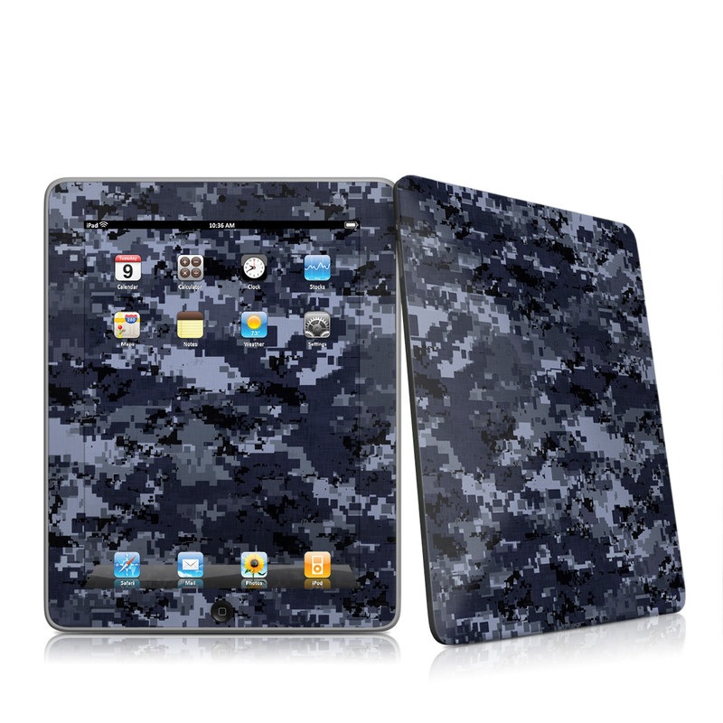 Digital Navy Camo iPad 1st Gen Skin