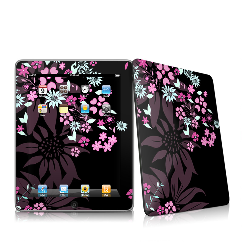 Dark Flowers iPad 1st Gen Skin