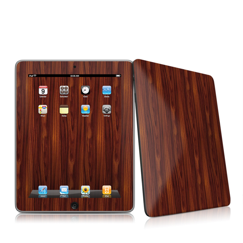 Dark Rosewood Apple iPad 1st Gen Skin