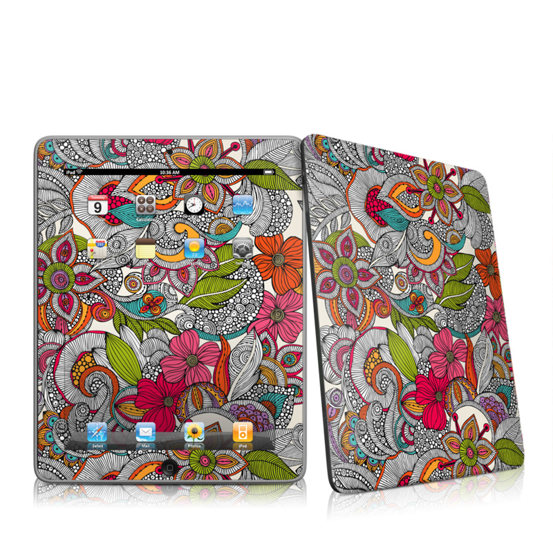 Doodles Color Apple iPad 1st Gen Skin