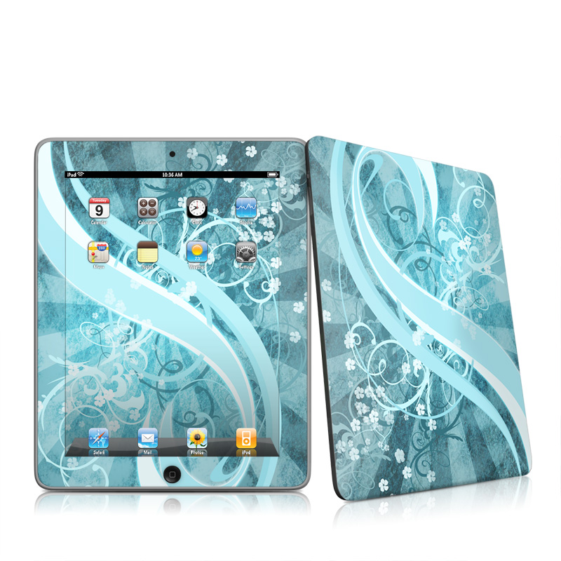 Flores Agua Apple iPad 1st Gen Skin