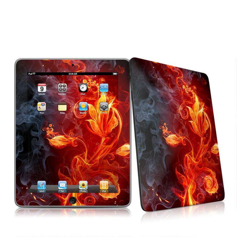 Flower Of Fire Apple iPad 1st Gen Skin