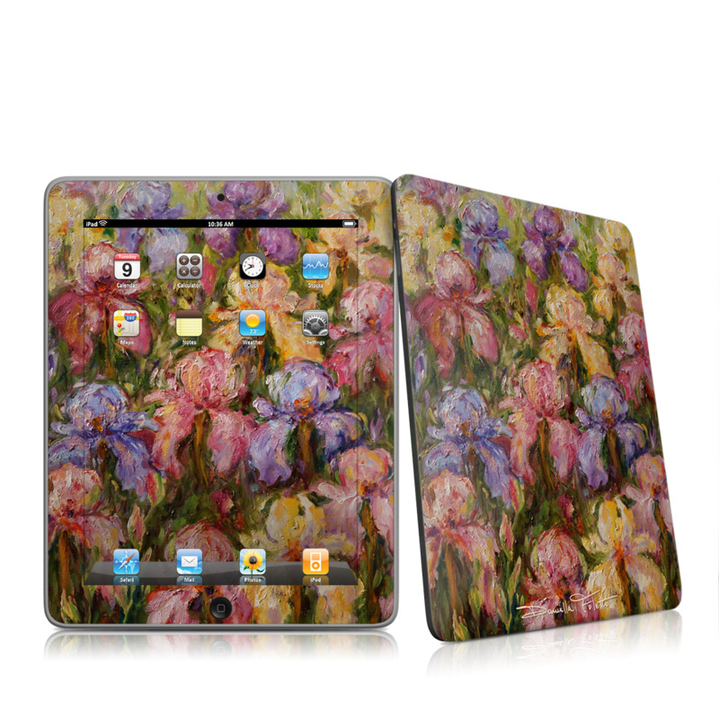 Field Of Irises iPad 1st Gen Skin