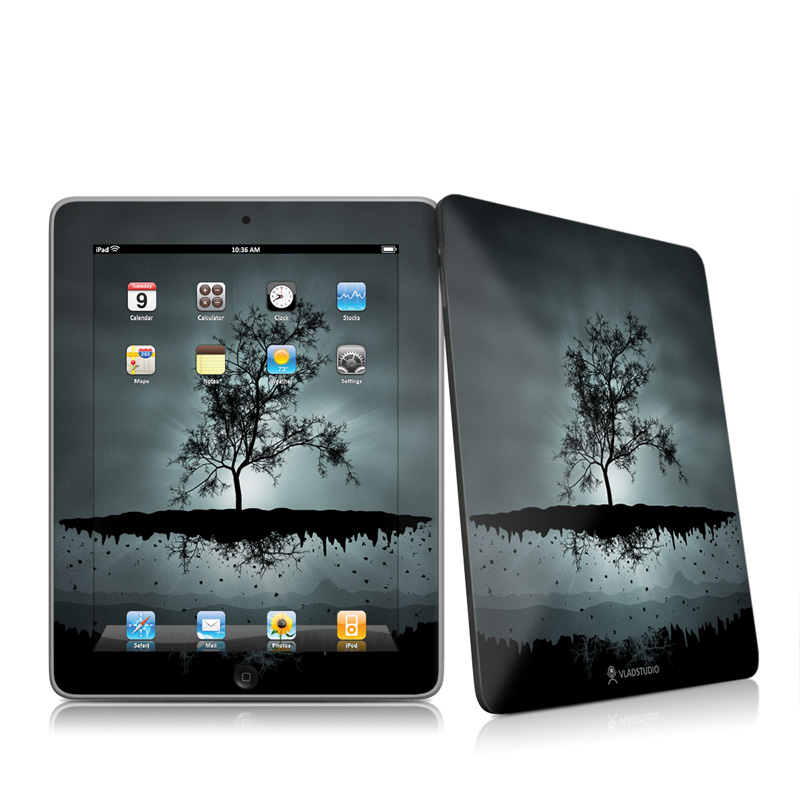 Flying Tree Black Apple iPad 1st Gen Skin