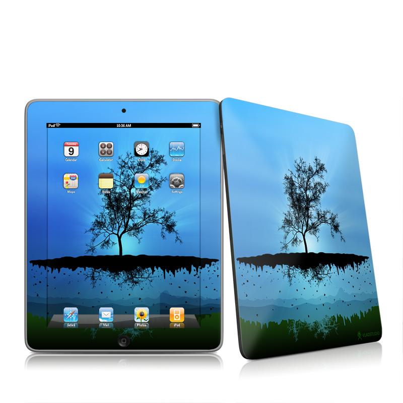 Flying Tree Blue Apple iPad 1st Gen Skin