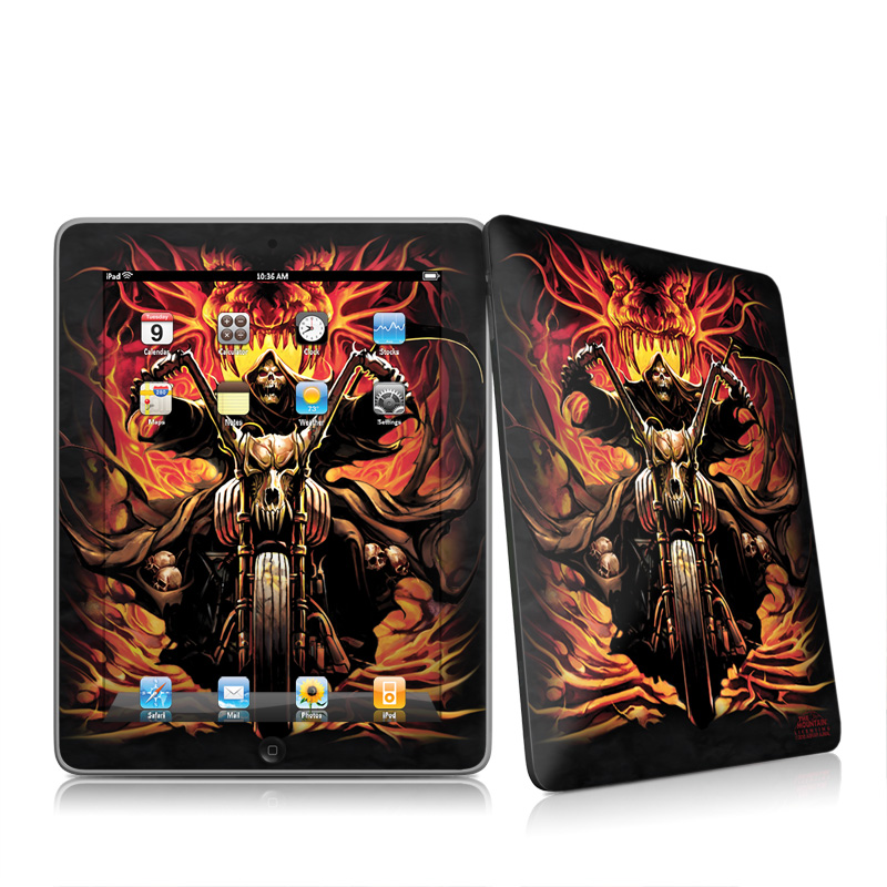Grim Rider Apple iPad 1st Gen Skin