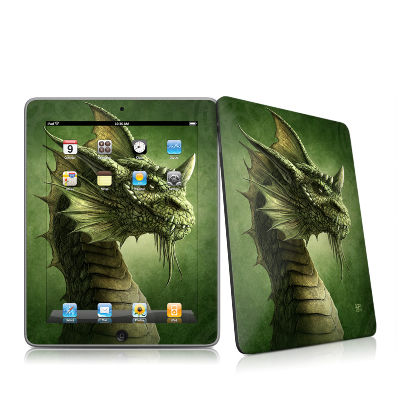 Green Dragon iPad 1st Gen Skin