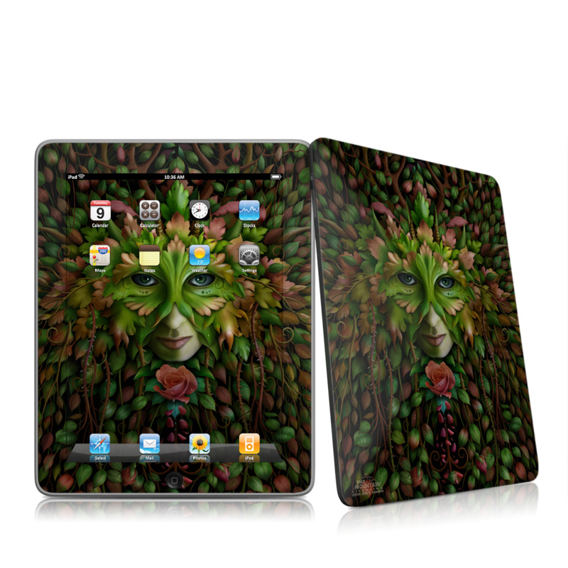 Green Woman iPad 1st Gen Skin