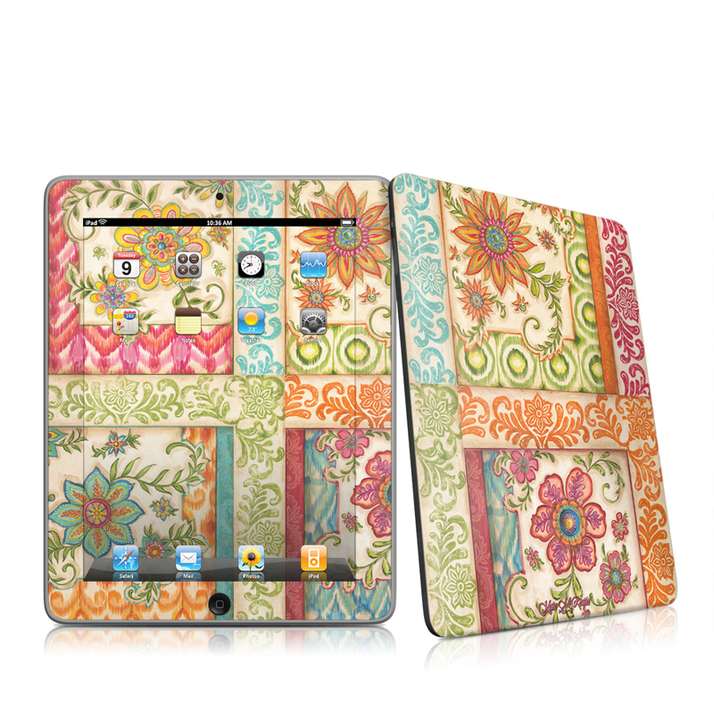 Ikat Floral Apple iPad 1st Gen Skin