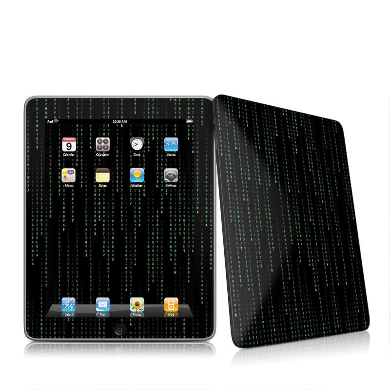 Matrix Style Code iPad 1st Gen Skin