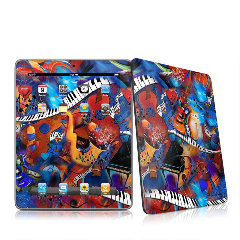 Music Madness Apple iPad 1st Gen Skin