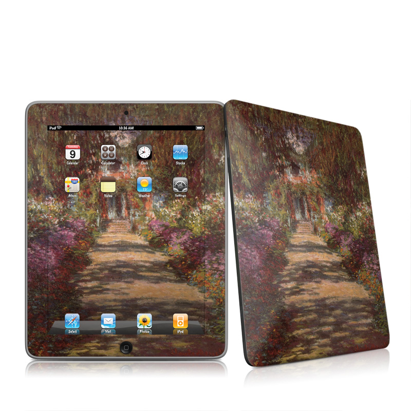 Garden at Giverny Apple iPad 1st Gen Skin