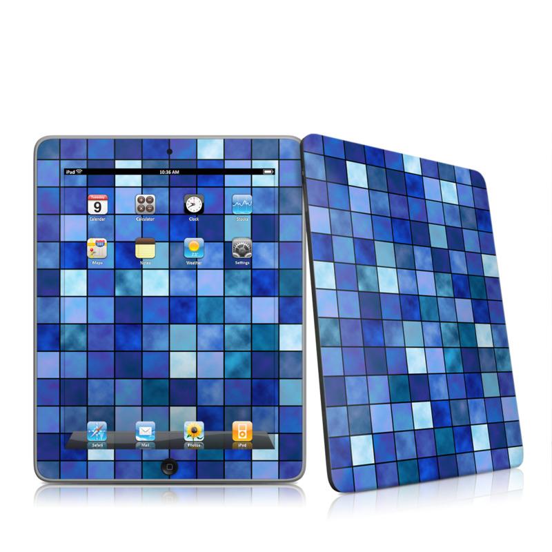 Blue Mosaic Apple iPad 1st Gen Skin