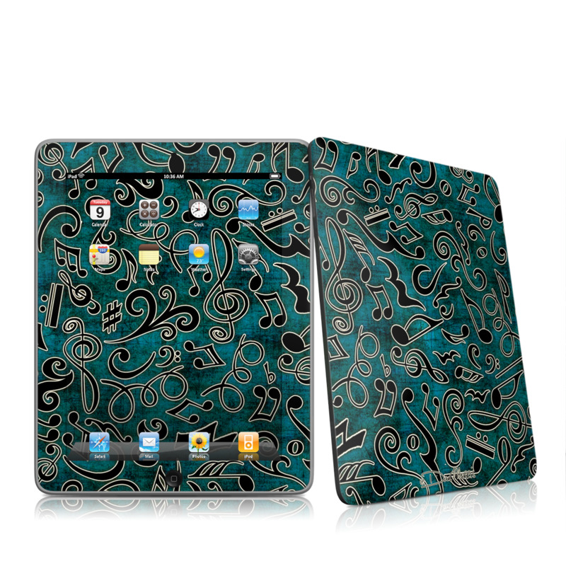 Music Notes iPad 1st Gen Skin