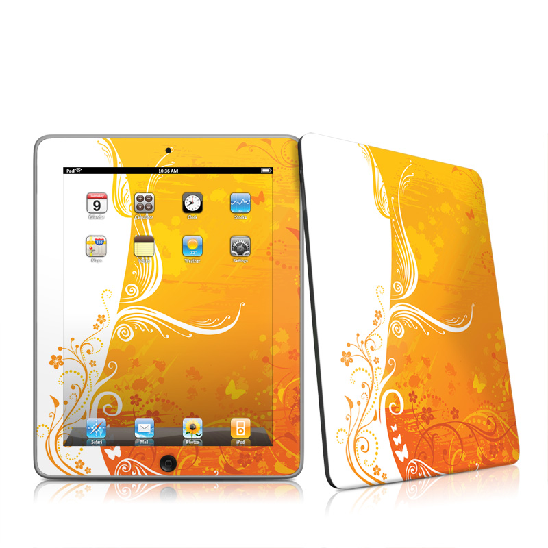 Orange Crush Apple iPad 1st Gen Skin