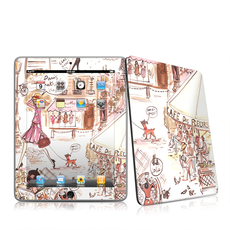 Paris Makes Me Happy Apple iPad 1st Gen Skin