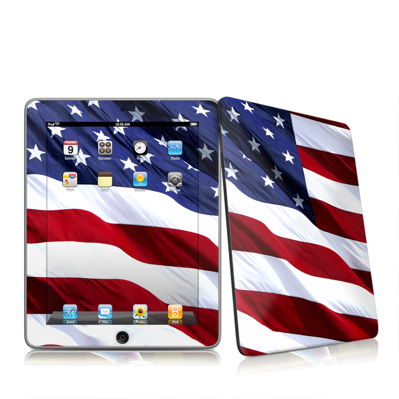 Patriotic Apple iPad 1st Gen Skin