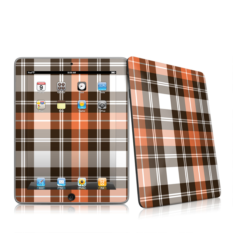 Copper Plaid iPad 1st Gen Skin