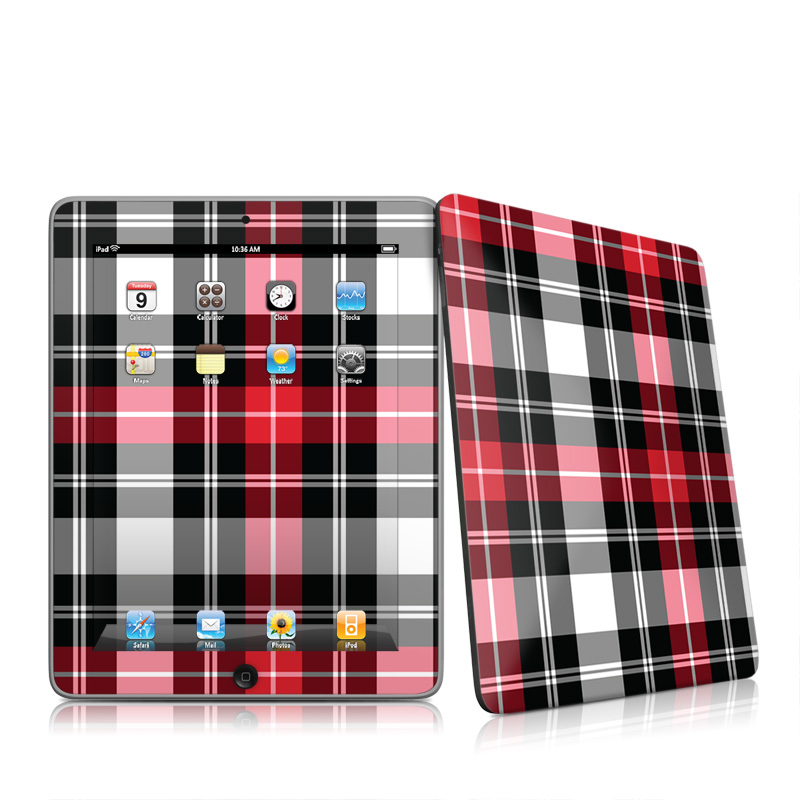 Red Plaid Apple iPad 1st Gen Skin